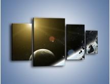 Obraz na płótnie – Dotrzeć między planety – czteroczęściowy GR534W4