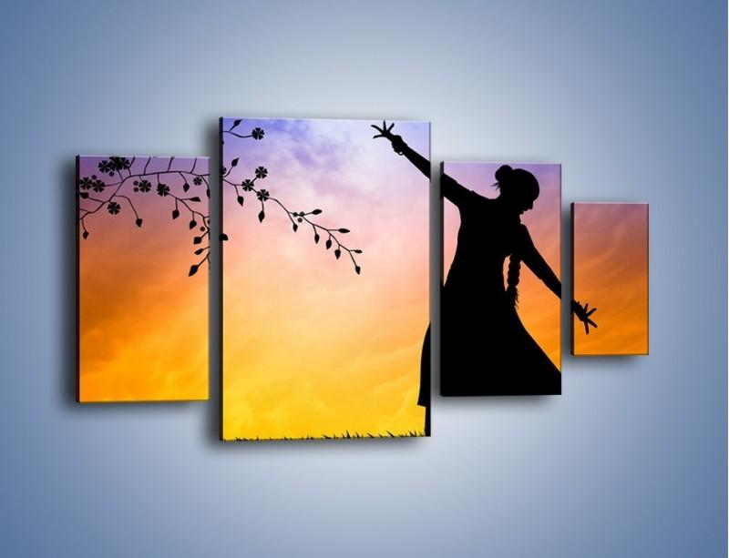 Obraz na płótnie – Wieczorny cygański taniec – czteroczęściowy GR597W4