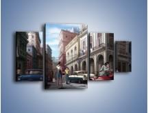 Obraz na płótnie – Codzienne życie na kubie – czteroczęściowy GR627W4