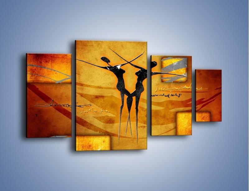 Obraz na płótnie – Dotyk w tańcu – czteroczęściowy GR633W4