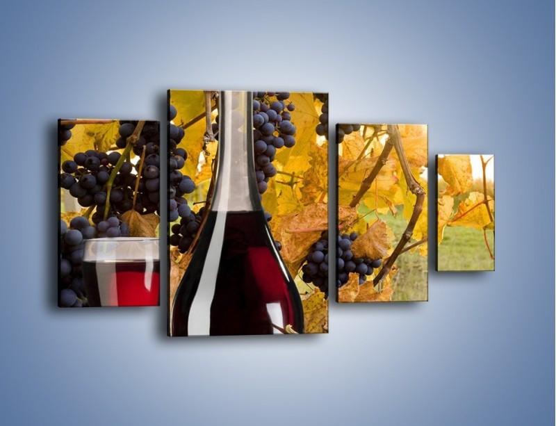 Obraz na płótnie – Wino wśród winogron – czteroczęściowy JN007W4