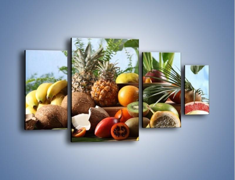 Obraz na płótnie – Mix owocowy na drewnianym stole – czteroczęściowy JN009W4