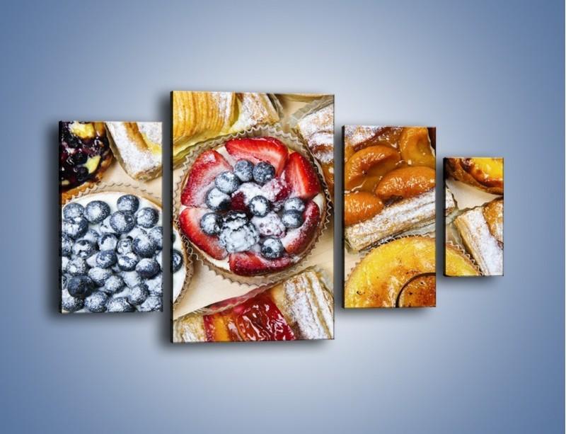 Obraz na płótnie – Kolorowe wypieki z dodatkiem owoców – czteroczęściowy JN032W4