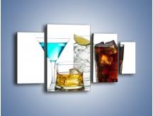Obraz na płótnie – Kolorowe drinki – czteroczęściowy JN054W4