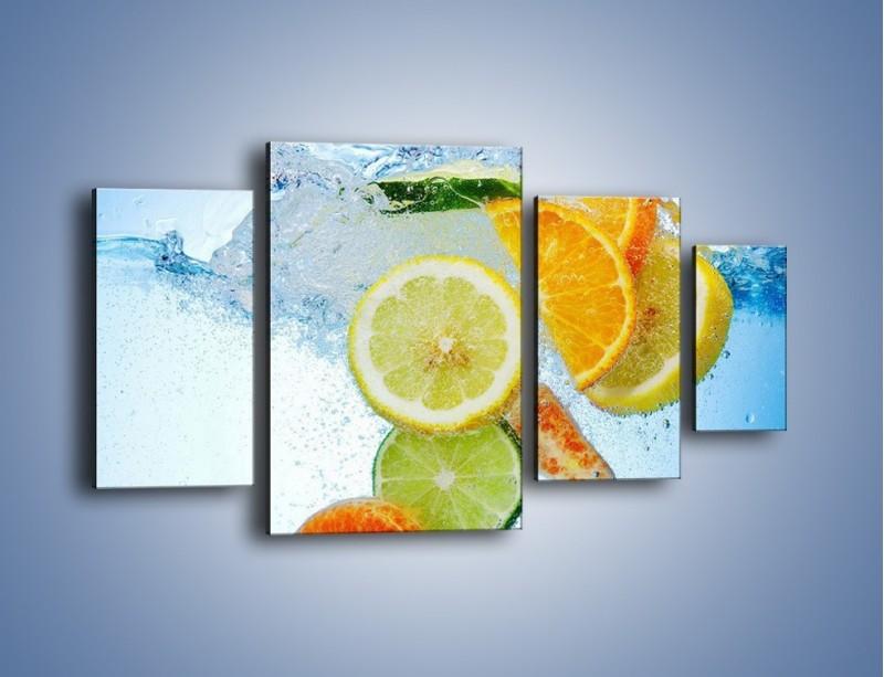Obraz na płótnie – Zatopione plastry owoców – czteroczęściowy JN057W4