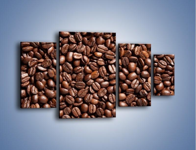 Obraz na płótnie – Ziarna świeżej kawy – czteroczęściowy JN061W4