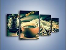 Obraz na płótnie – Czarna kawa arabica – czteroczęściowy JN064W4
