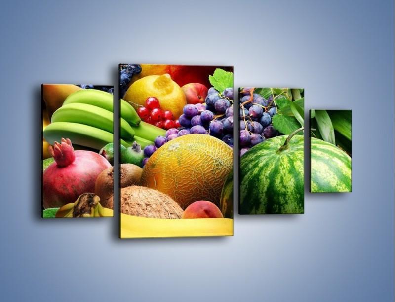 Obraz na płótnie – Stół pełen dojrzałych owoców – czteroczęściowy JN072W4