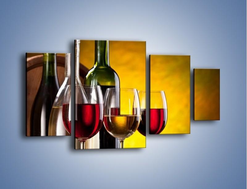 Obraz na płótnie – Wino z orzechami – czteroczęściowy JN077W4