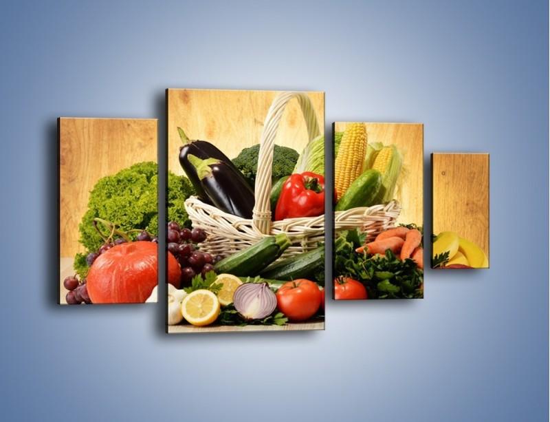 Obraz na płótnie – Kosz pełen warzywnych witamin – czteroczęściowy JN081W4