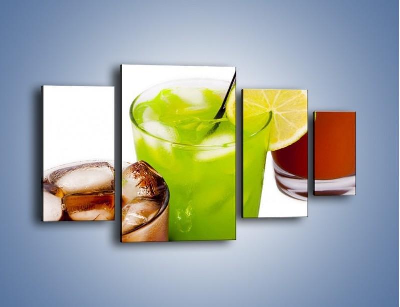 Obraz na płótnie – Kwaśno-słodkie drinki – czteroczęściowy JN093W4