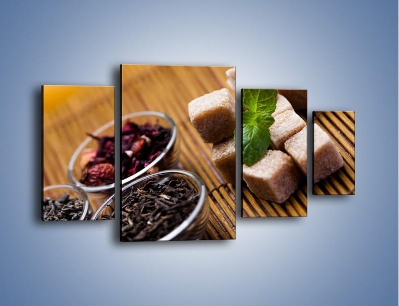 Obraz na płótnie – Ususzone bogactwa natury do herbaty – czteroczęściowy JN105W4