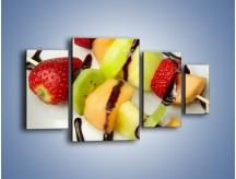 Obraz na płótnie – Czekoladowo-owocowe szaszłyki – czteroczęściowy JN112W4