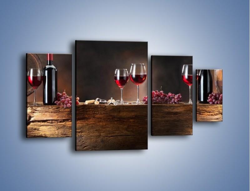 Obraz na płótnie – Beczuszki czerwonego wina – czteroczęściowy JN142W4