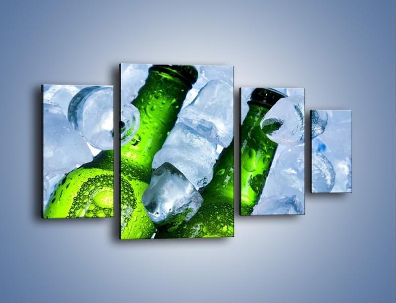 Obraz na płótnie – Czas na zimne piwko – czteroczęściowy JN148W4