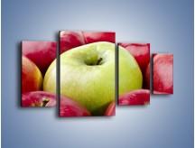 Obraz na płótnie – Zielone wśród czerwonych jabłek – czteroczęściowy JN155W4