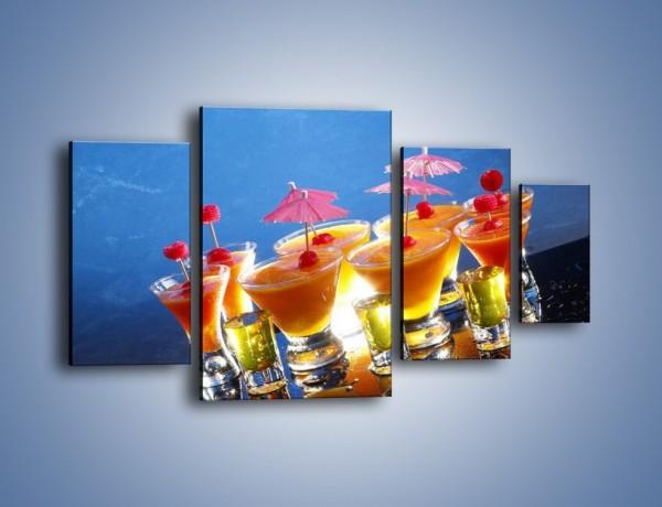 Obraz na płótnie – Tropikalne drinki nocą – czteroczęściowy JN160W4