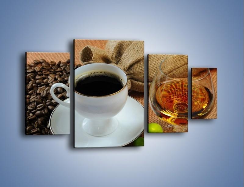 Obraz na płótnie – Wieczorowa kawa z prądem – czteroczęściowy JN166W4