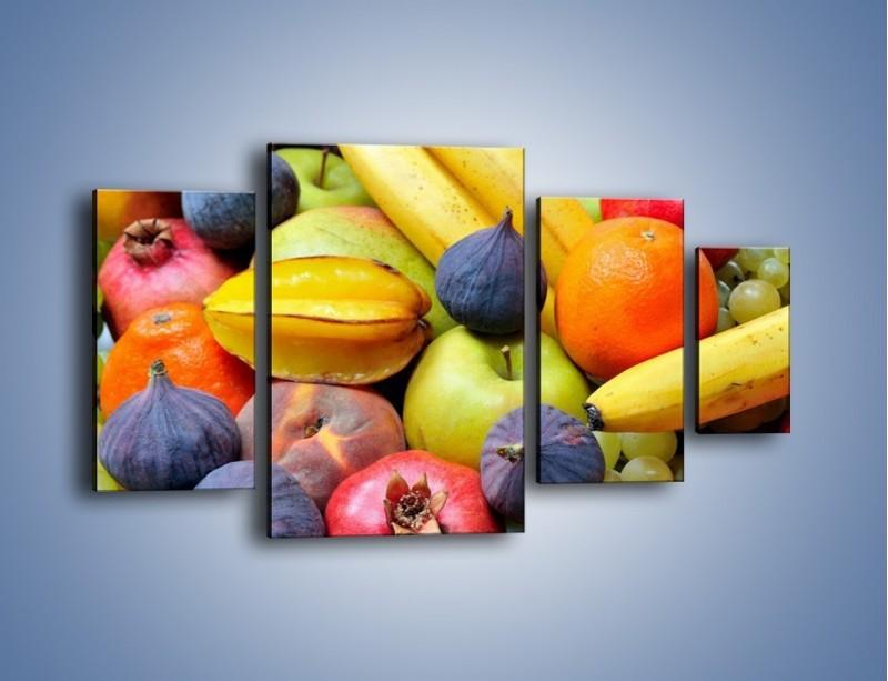 Obraz na płótnie – Owocowe kolorowe witaminki – czteroczęściowy JN173W4