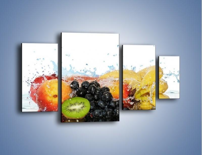 Obraz na płótnie – Owocowe nuty skąpane w wodzie – czteroczęściowy JN176W4