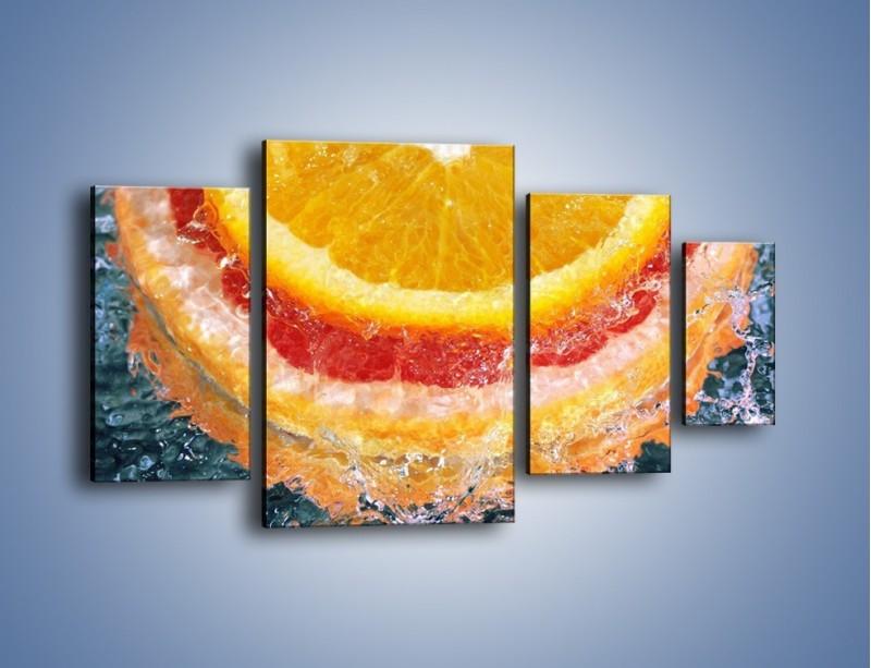 Obraz na płótnie – Cytrusowe trio – czteroczęściowy JN177W4