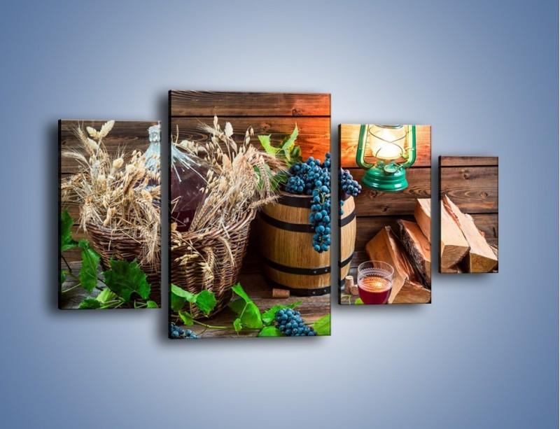 Obraz na płótnie – Wino według własnego przepisu – czteroczęściowy JN202W4