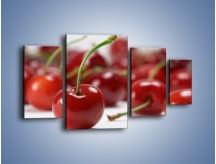 Obraz na płótnie – Czereśnia rządzi w kuchni – czteroczęściowy JN223W4