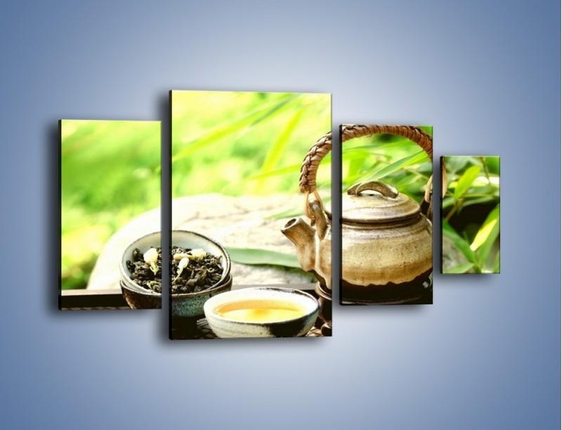 Obraz na płótnie – Herbata na świeżym powietrzu – czteroczęściowy JN249W4