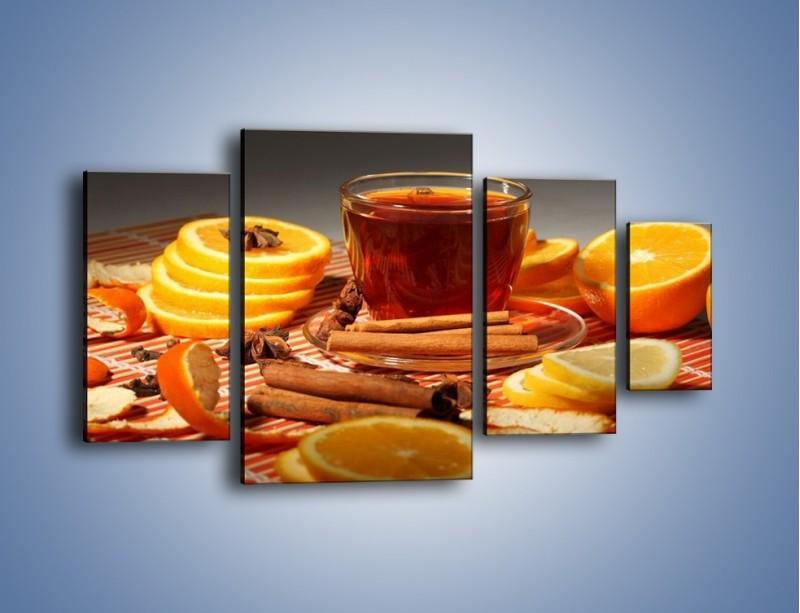 Obraz na płótnie – Imbirowo-pomarańczowe rozluźnienie – czteroczęściowy JN260W4