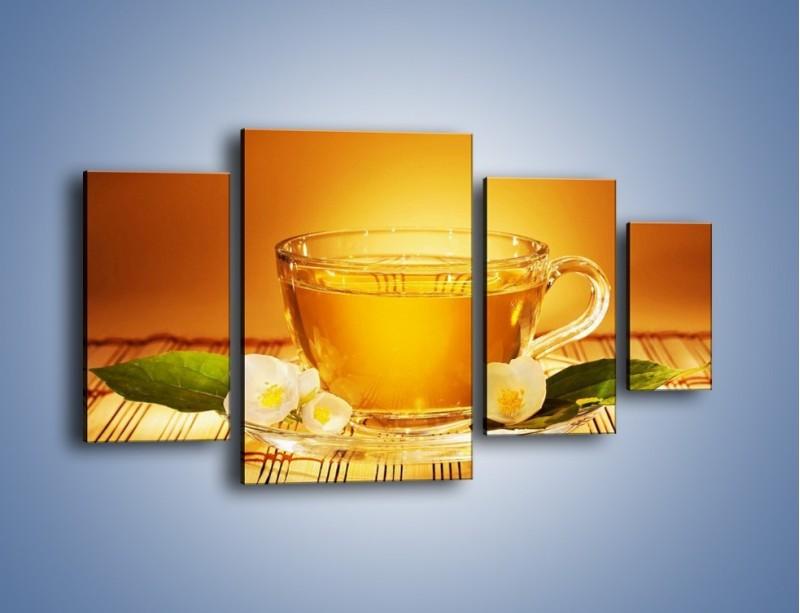 Obraz na płótnie – Delikatny smak herbaty – czteroczęściowy JN261W4