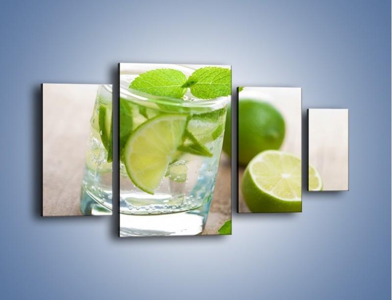 Obraz na płótnie – Limonkowy napój – czteroczęściowy JN262W4