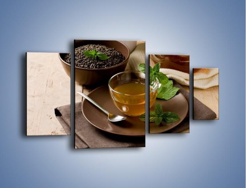 Obraz na płótnie – Filiżanka herbaty na poprawę humoru – czteroczęściowy JN264W4