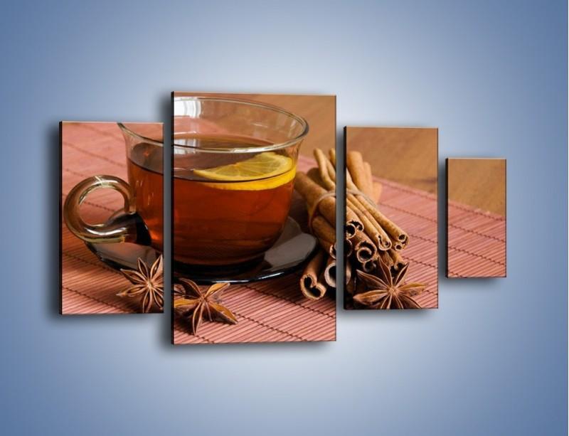 Obraz na płótnie – Rozgrzewająca filiżanka herbaty – czteroczęściowy JN266W4