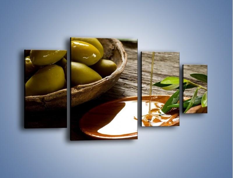 Obraz na płótnie – Bogactwa wydobyte z oliwek – czteroczęściowy JN270W4