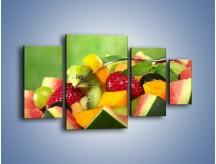 Obraz na płótnie – Arbuzowa misa z owocami – czteroczęściowy JN274W4