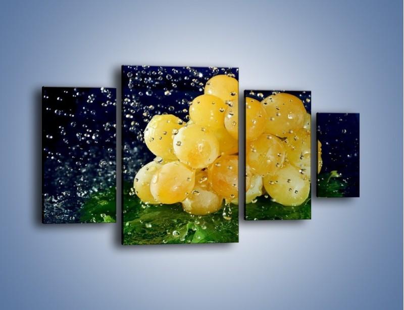 Obraz na płótnie – Słodkie winogrona z miętą – czteroczęściowy JN286W4