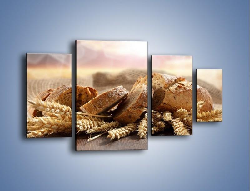 Obraz na płótnie – Świeży pszenny chleb – czteroczęściowy JN287W4