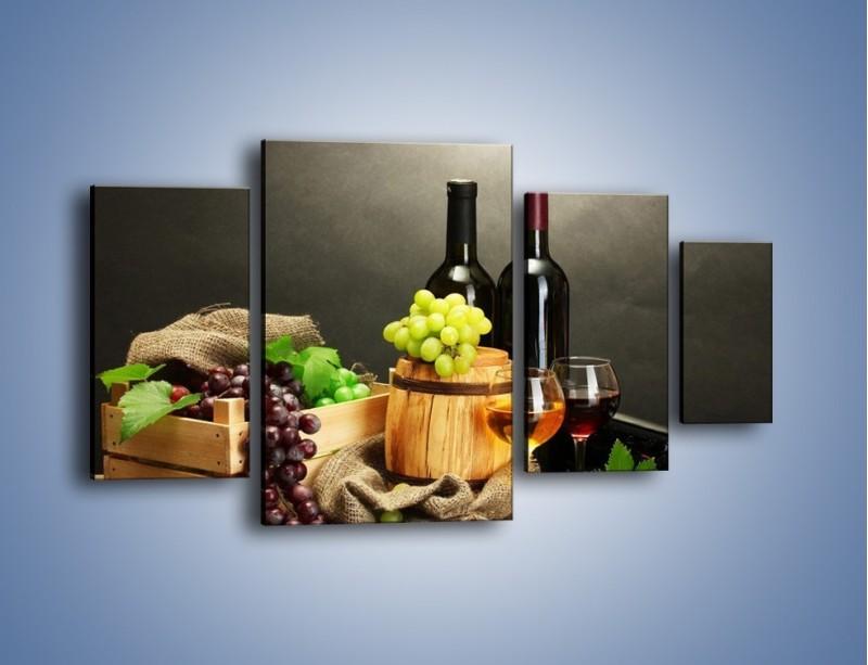 Obraz na płótnie – Wytrawne smaki wina – czteroczęściowy JN289W4