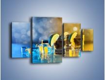 Obraz na płótnie – Zimne shoty z limonką – czteroczęściowy JN294W4