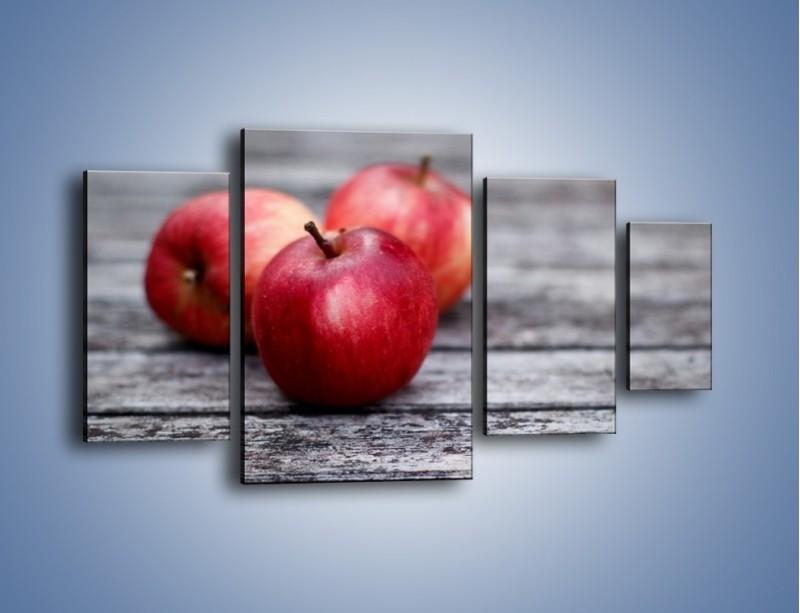 Obraz na płótnie – Jabłkowe zdrowie – czteroczęściowy JN296W4