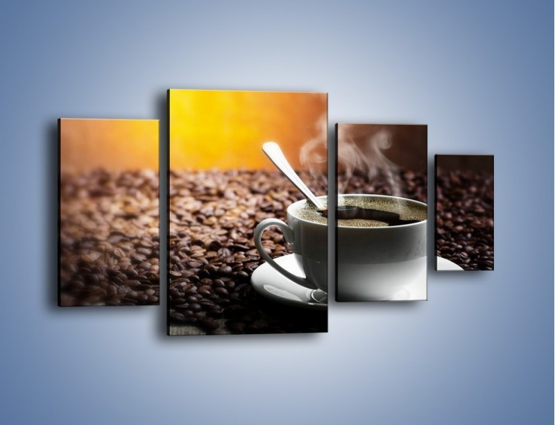 Obraz na płótnie – Aromatyczna filiżanka kawy – czteroczęściowy JN298W4