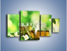 Obraz na płótnie – Herbaciane ukojenie – czteroczęściowy JN316W4