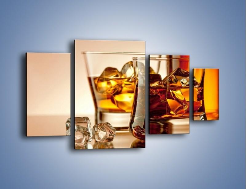 Obraz na płótnie – Męskie rozmowy przy whisky – czteroczęściowy JN318W4