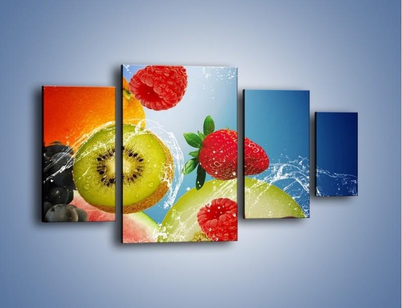 Obraz na płótnie – Owoce o poranku – czteroczęściowy JN331W4