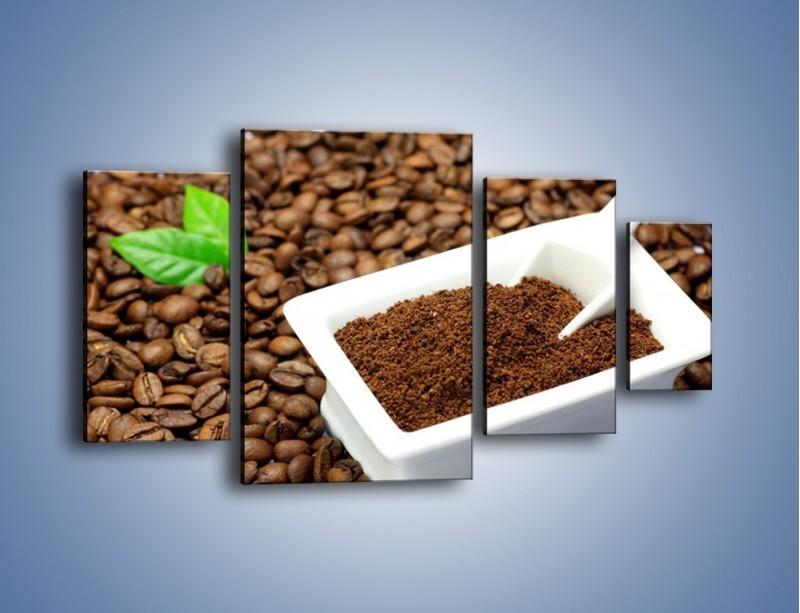 Obraz na płótnie – Zmielona kawa – czteroczęściowy JN340W4