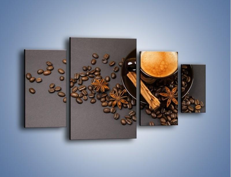 Obraz na płótnie – Kawa z goździkiem – czteroczęściowy JN349W4