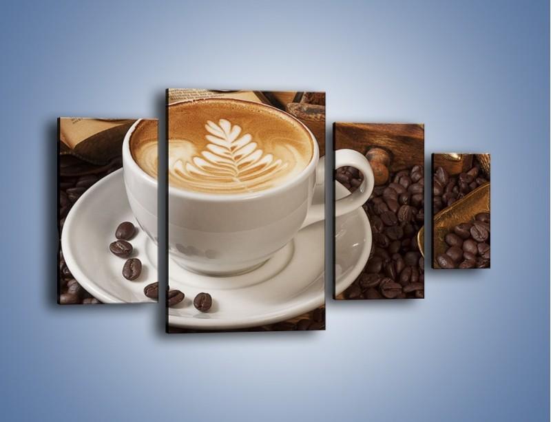Obraz na płótnie – Czas na kawę – czteroczęściowy JN353W4