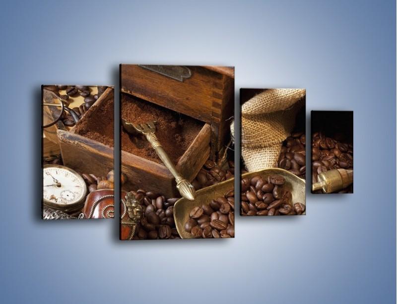 Obraz na płótnie – Szuflada pełna kawy – czteroczęściowy JN356W4