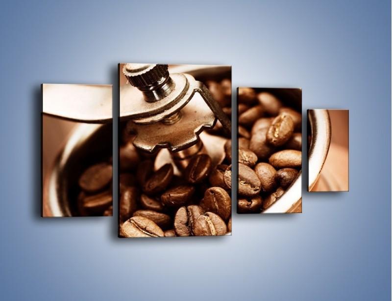 Obraz na płótnie – Kawa w młynku – czteroczęściowy JN361W4