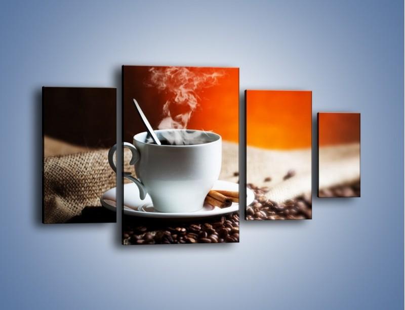 Obraz na płótnie – Aromatyczny zapach kawy – czteroczęściowy JN374W4